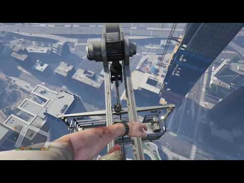 Gta v Trevor fall off building(first person)