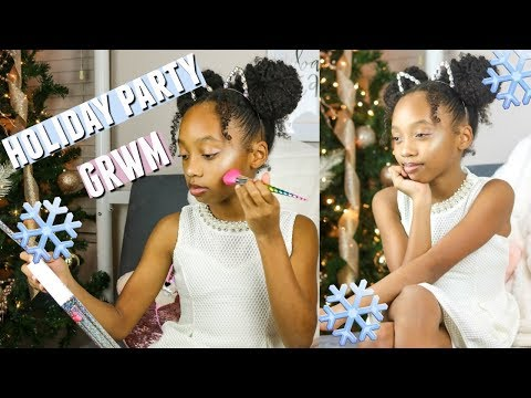 HOLIDAY PARTY GET READY WITH ME | TWEEN HOLIDAY MAKEUP