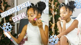 HOLIDAY PARTY GET READY WITH ME   TWEEN HOLIDAY MAKEUP