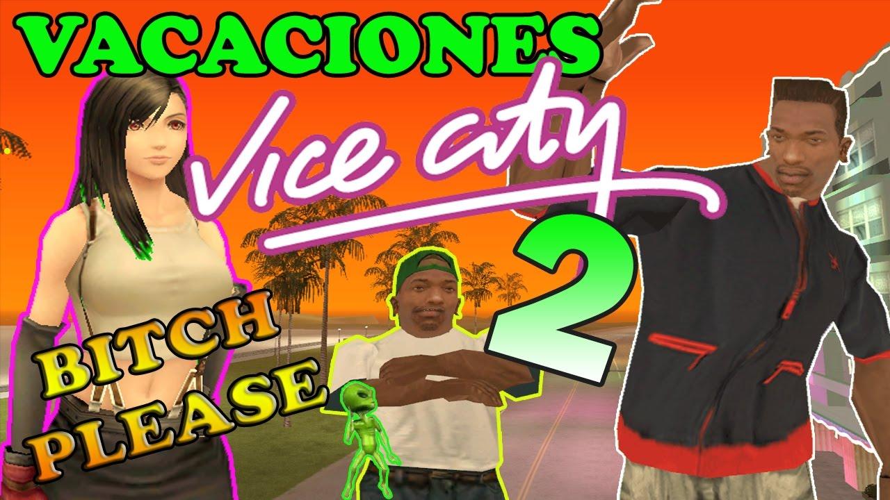 Vacaciones en Vice City de CJ y su familia 2 - GTA San Andreas Loquendo