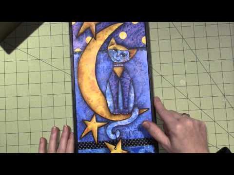 Gelli Print Cat
