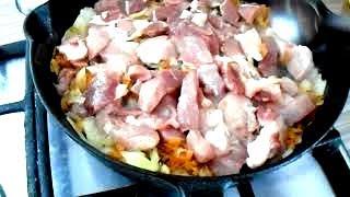 Как  приготовить вкусный гуляш  из свинины с подливкой Идеальный гуляш ч 1