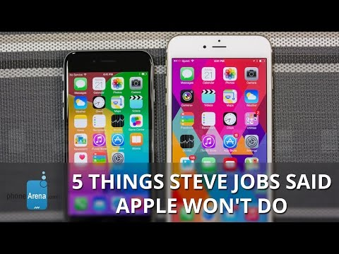 5 things Steve Jobs said Apple won't do