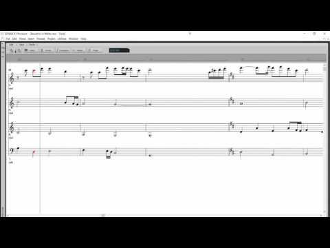 Beautiful in White  String Quartet MUSIC SHEET