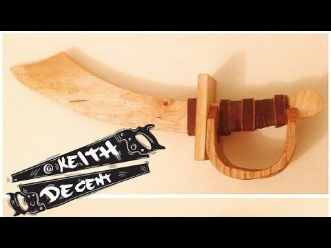 DIY SCRAP WOOD TOY PIRATE SWORD - a Decent Project