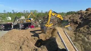 Chattanooga, TN- CrowderGulf's Tornado Response Debris Management Site (DMS)