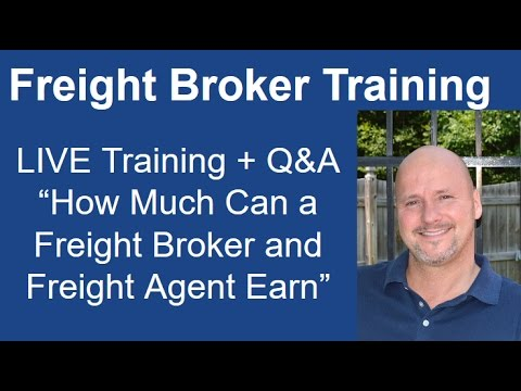 How much can a freight broker or freight agent earn