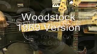 Santana SOUL SACRIFICE Dave Brown Bass Guitar Lesson Woodstock 1969 Live Cover