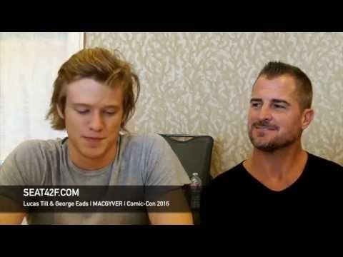 Lucas Till & George Eads MACGYVER Interview Comic Con 2016