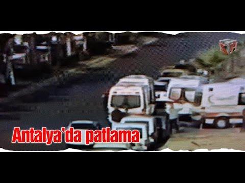 Antalya'daki patlamanın olay yeri görüntüleri