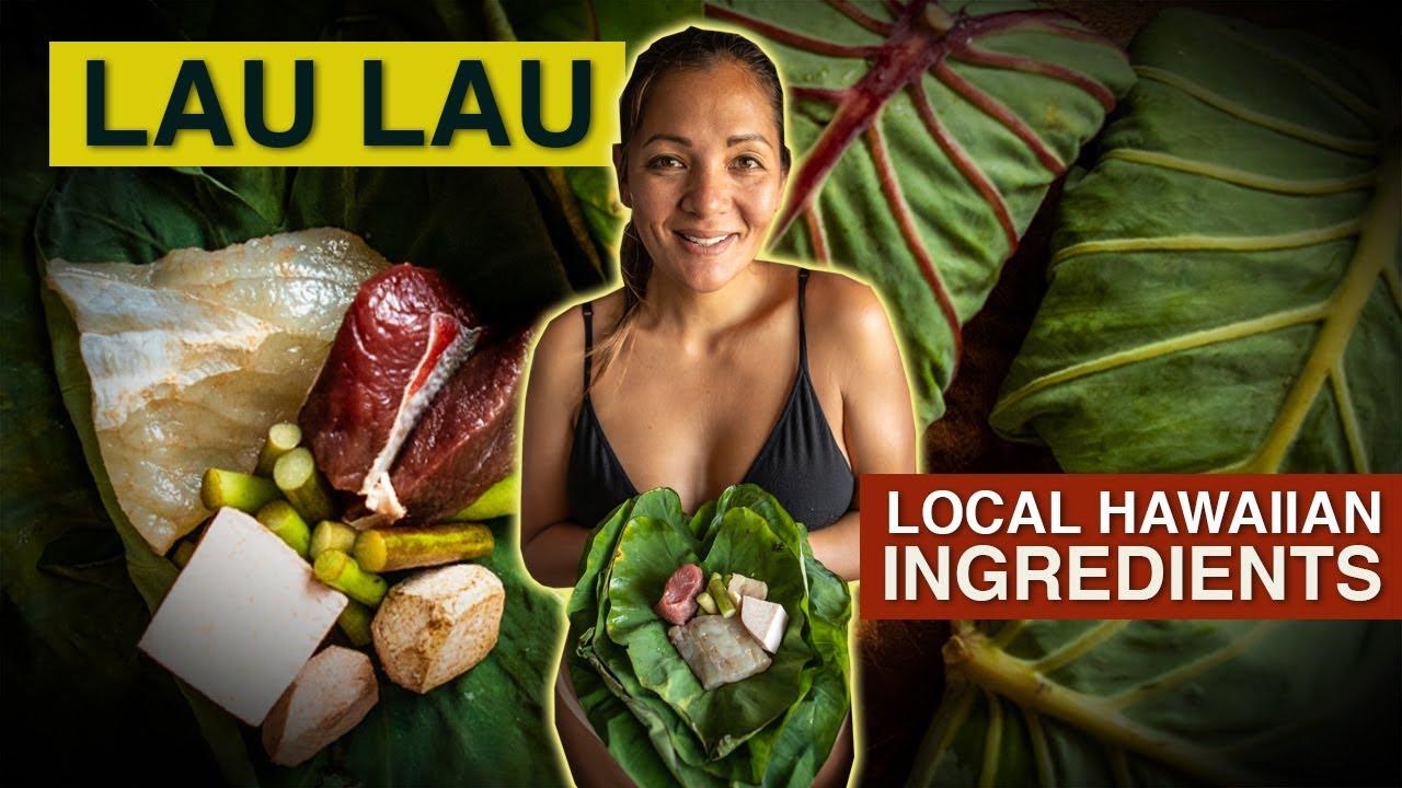 Lau Lau Bundles Of Local Hawaiian Ingredients Kimi Werner Recipe Youtube