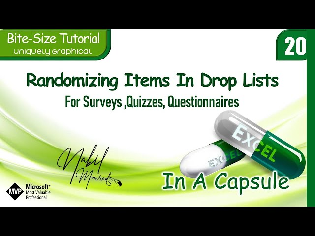 Randomizing Items in Excel Drop Lists With Every Selection