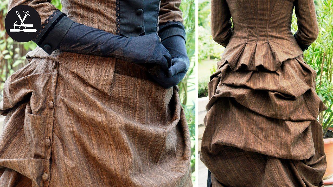 Viktorianisches Kleid Teil 1: Drapieren eines Rockes - YouTube