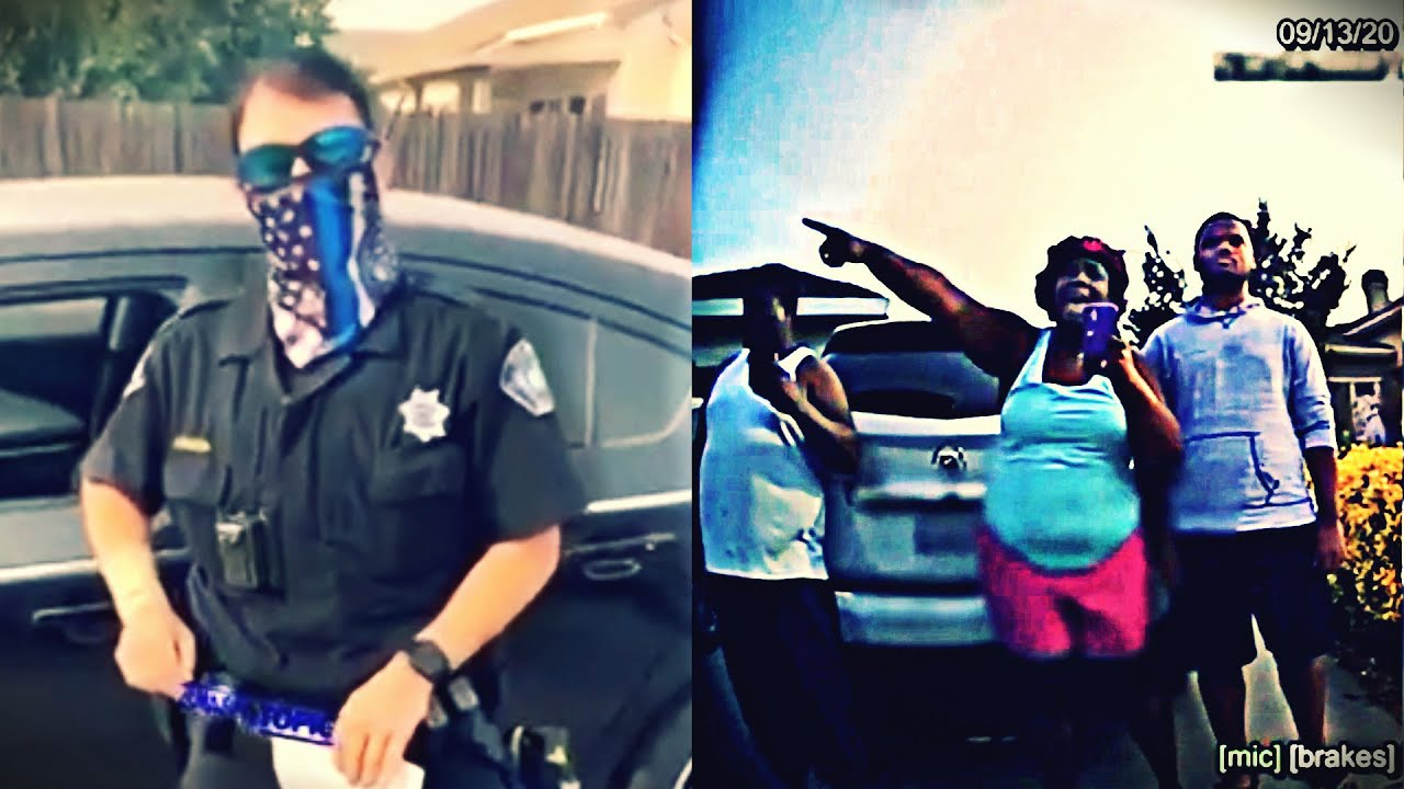 (Full-Sync) Blue-line Cop vs. Mad Black Mom | Waiting For Back-Up Traffic Stop Elk Grove, CA