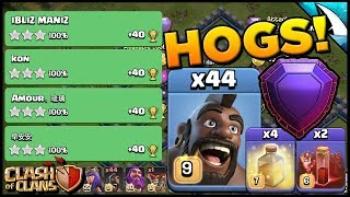 Sui Mass Hog Attack Strategy at TH 12! Wrecking on the Ground! | Clash of Clans