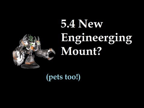 5.4 Engineering Additions - Mounts, Pets, and Ferrets(No.)?