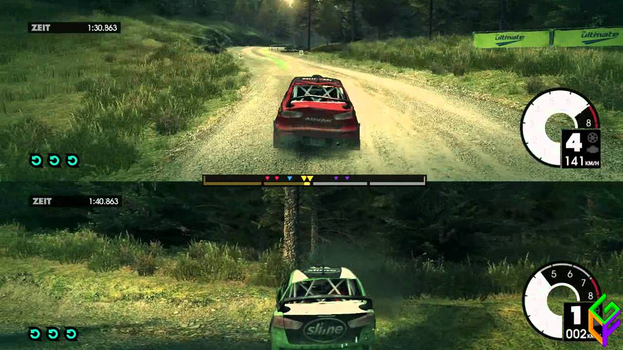 dirt 3 11 splitscreen rally part 1 3 pc gameplay. Black Bedroom Furniture Sets. Home Design Ideas