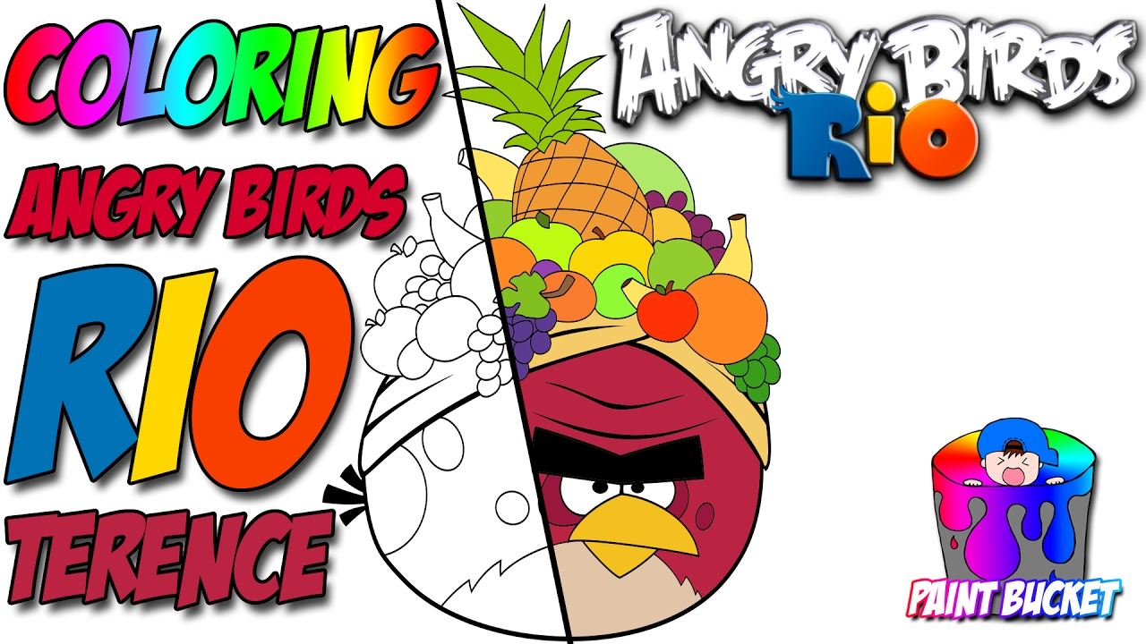 How To Color Angry Birds Rio Coloring Page