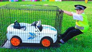 Vlad giả vờ chơi cảnh sát và bị mất xe