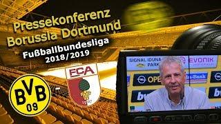 BVB-Pressekonferenz nach dem 4:3 Sieg gegen den FC Augsburg