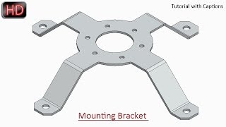 Mounting Bracket || Creo Parametric Sheet Metal Tutorial