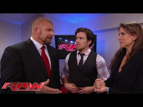 New Raw General Manager Brad Maddox encounters Stephanie McMahon and Triple H: Raw, July 15, 2013