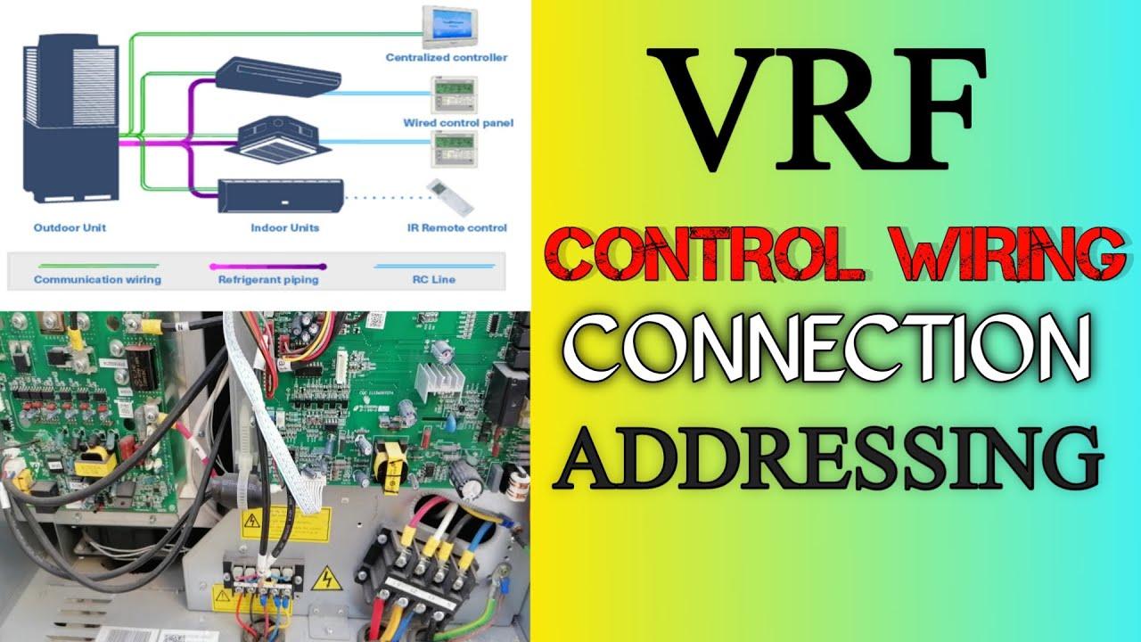 VRF Control Wiring Connection | VRV Wiring Diagram And Connection | VRF Out  Door Control Wiring - YouTube | Vrf Air Conditioning Wiring Diagram |  | YouTube