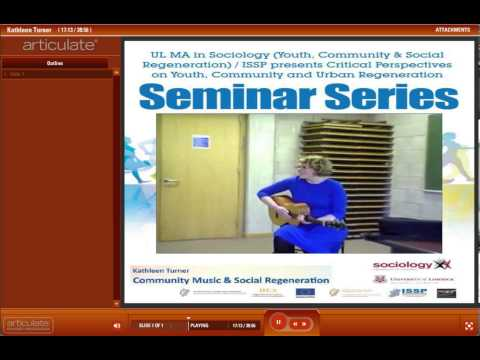 Kathleen Turner - Community Music and Social Regeneration