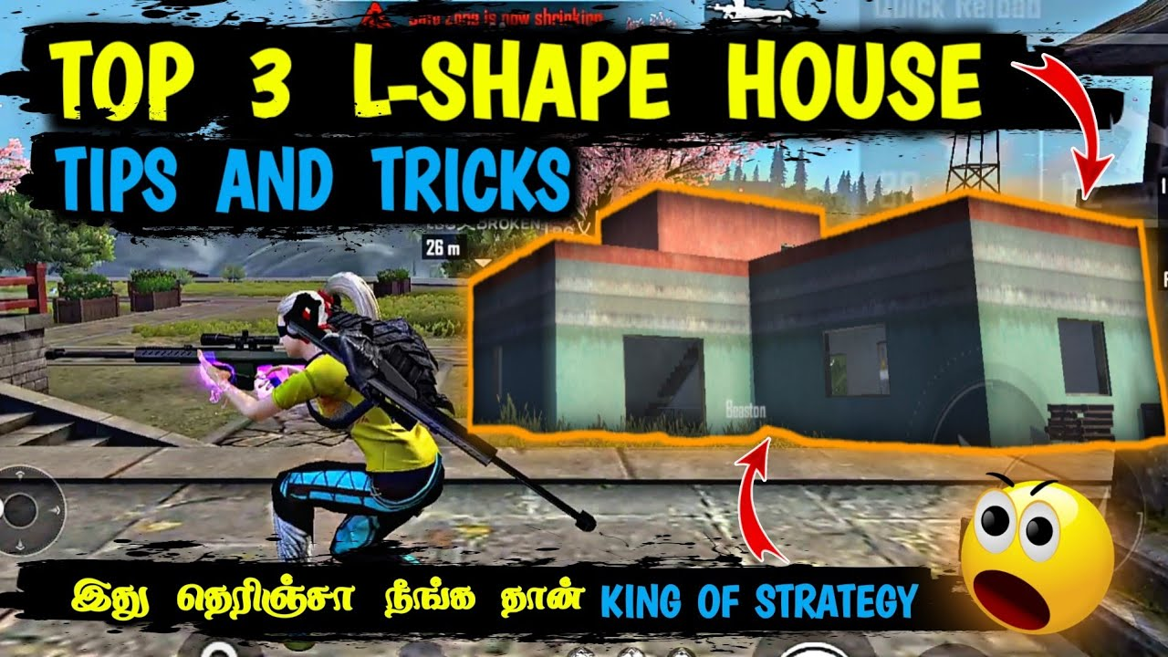 TOP 3 L-SHAPE HOUSE TIPS AND TRICKS FREEFIRE | Ranked & Tournament Tips and Tricks Tamil | protips
