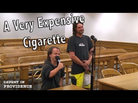 A very expensive cigarette