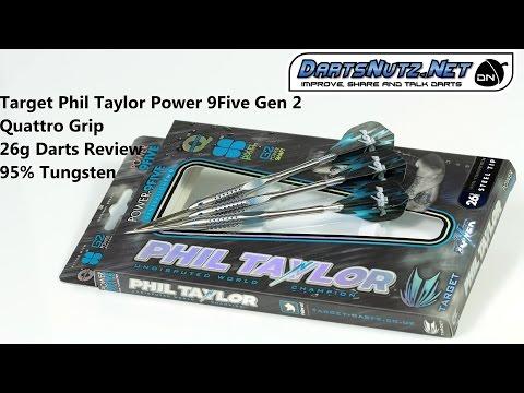 Target Phil Taylor Power 9 Five Gen 2 Quattro 26g darts review