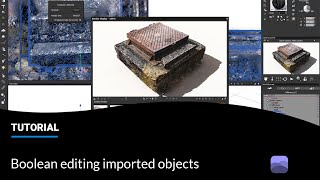 E-on software Tips and Tricks: Boolean editing imported objects