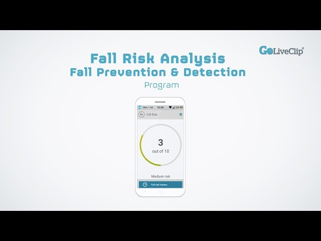 GoLivePhone Fall Risk Analysis, Fall Prevention and Detection Program