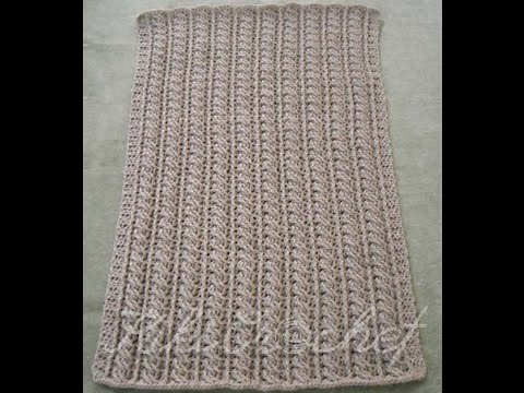 Crochet Cable Stitch Blanket (pt1)