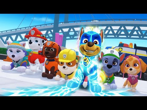 PAW Patrol Mighty Pups Save Adventure Bay - Marshall, Chase Super Heroic Rescue Mission - Nick Jr HD