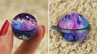 Resin GALAXY necklace DIY Ocean from Resin  🌊 7 CHEAP AND EASY DIY JEWELRY IDEAS