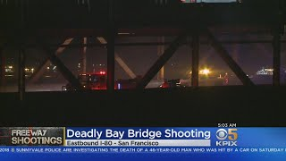 FATAL BAY BRIDGE SHOOTING: One man is dead after a shooting on the Bay Bridge early Monday
