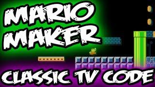 Super Mario Maker EASTER EGG || CLASSIC Mario TV CODE! || Mario Maker Gameplay