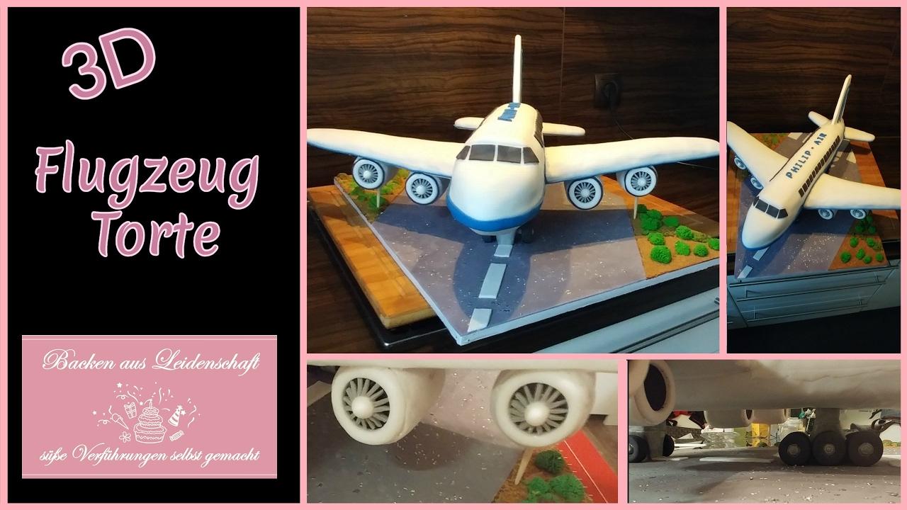 3d Flugzeug Torte Aeroplan 3d Cake Youtube