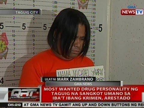 QRT: Most wanted drug personality ng Taguig na sangkot umano sa iba't ibang krimen, arestado