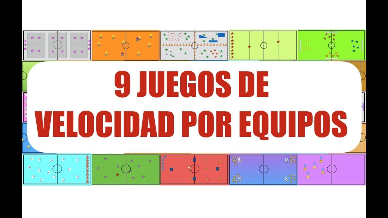 9 Juegos De Velocidad Por Equipos Juegos Educacion Fisica Youtube