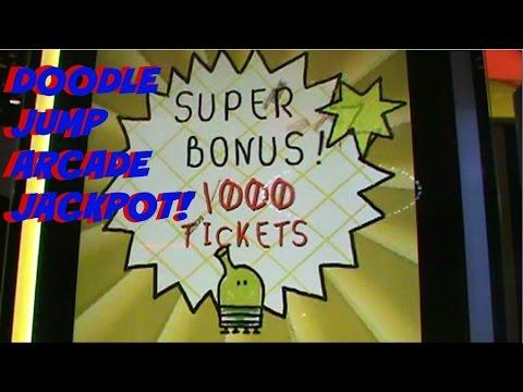 Doodle Jump Arcade Game 1000 TICKET JACKPOT WIN! - Arcade Games