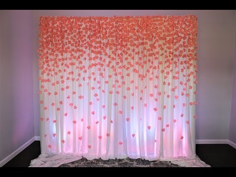 Paper Flower Backdrop DIY, 700 Hundred paper flowers!!!!