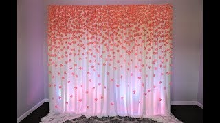 Paper Flower Backdrop DIY, 700 Hundred paper flowers!!!!