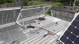 Установил вторую солнечную панель монокристал (показания в пасмурную погоду)