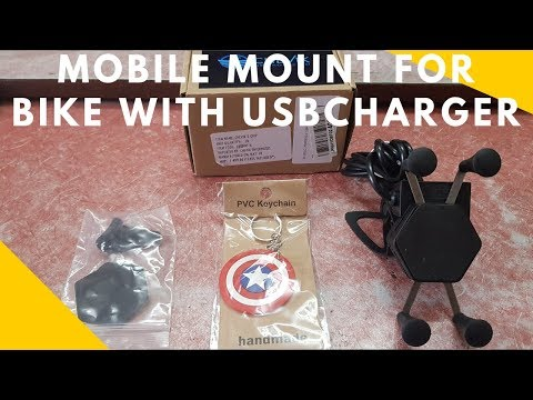 CheVik X-GRIP Bike Mobile Holder with Waterproof Charger(HINDI)