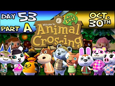 Animal Crossing: New Leaf – Day 53 : Part A – Oct. 30 – An Awesome House!