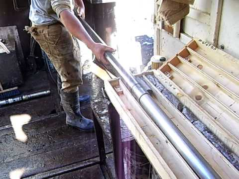Core Samples from Diamond Drilling - Endako Mines, BC