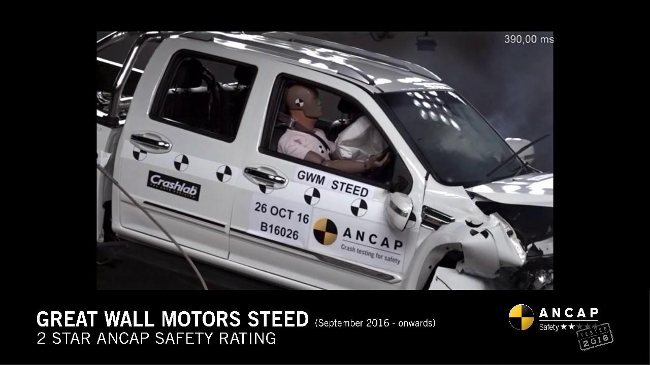 Ancap safety rating great wall motors steed september 2016 onwards