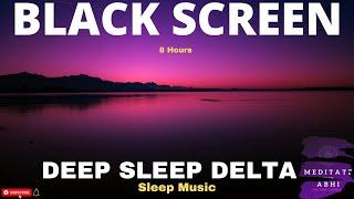Sleep Music 528 hz miracle tone Black Screen 8 hours I Chakra Balancing music Solfeggio frequencies